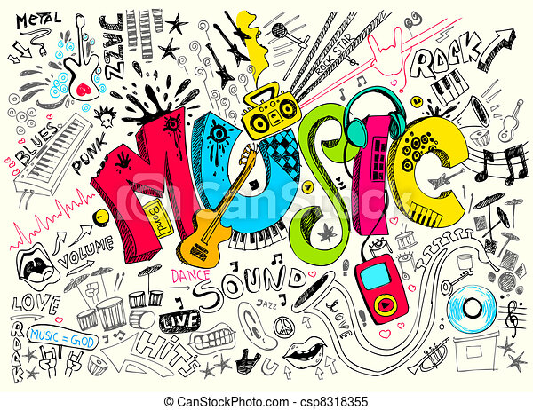 garabato, música - csp8318355