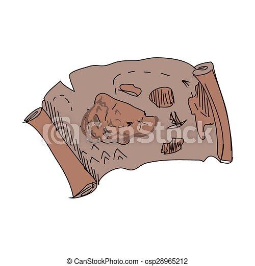 Mapa del tesoro Doodle - csp28965212