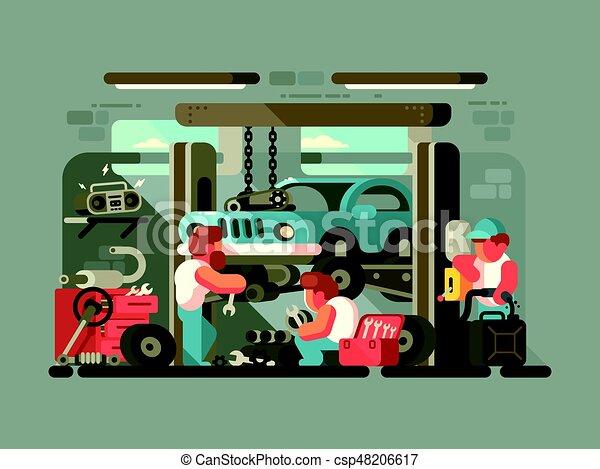 Garage auto service - csp48206617