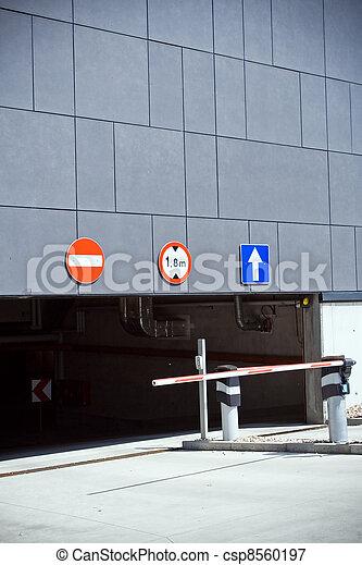 garage, entrée, sortie, stationnement - csp8560197