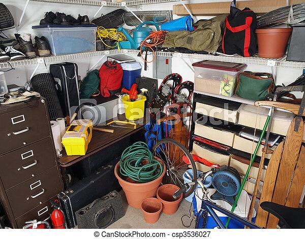 Garage Mess - csp3536027