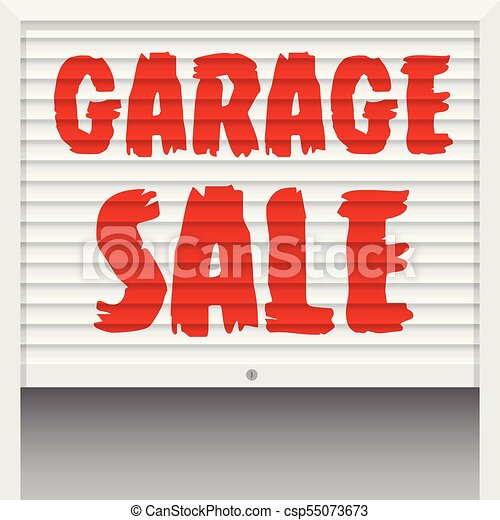 Garage sale poster, banner template. vector illustration.