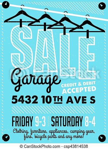 garage sale poster csp43814538