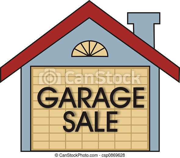 garage sale big garage sale sign on the garage door rh canstockphoto com garage door opener clipart broken garage door clipart