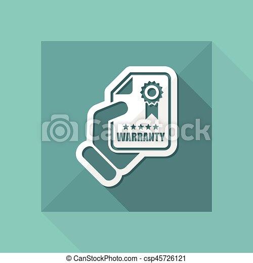 garantia, ícone - csp45726121