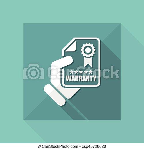 garantia, ícone - csp45728620