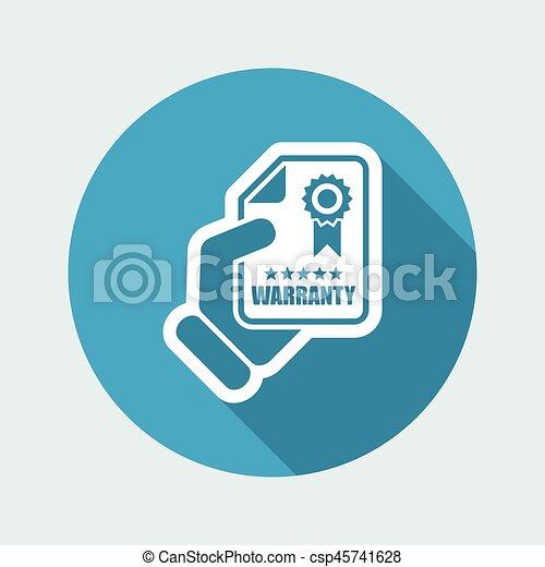 garantia, ícone - csp45741628