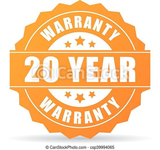 garantia, ano, 20, ícone - csp39994065
