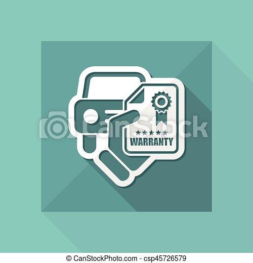 garantia, car, ícone - csp45726579