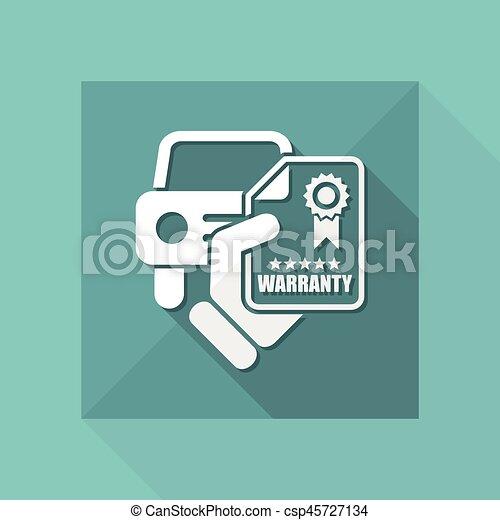 garantia, car, ícone - csp45727134