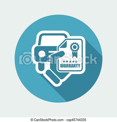 garantia, car, ícone - csp45744335
