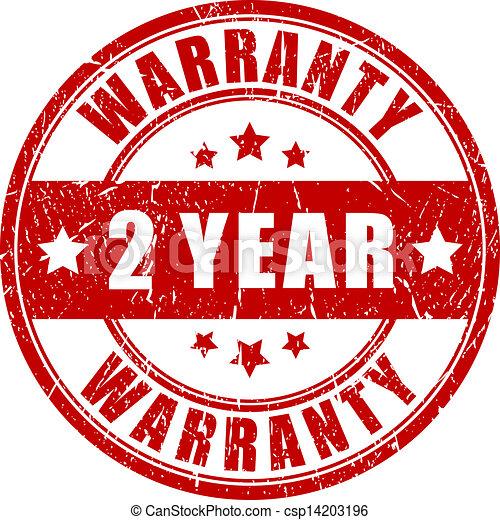 garantia, selo, dois, ano - csp14203196