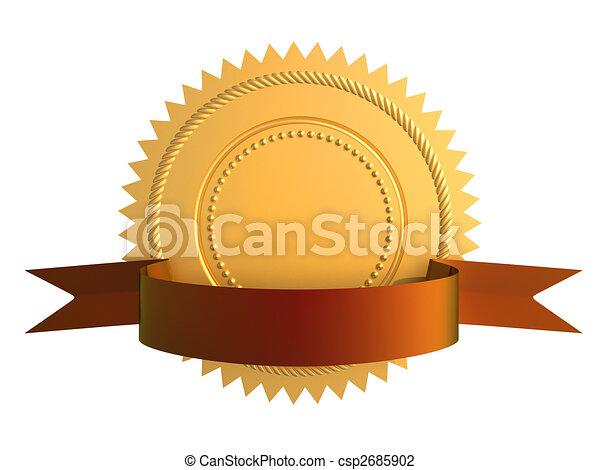 garantia, selo ouro - csp2685902