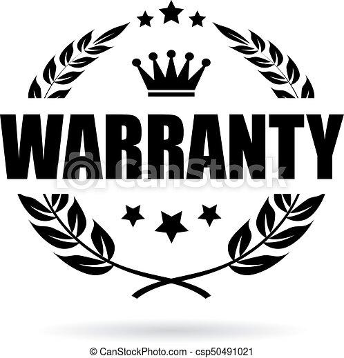 garantia, vetorial, ícone - csp50491021