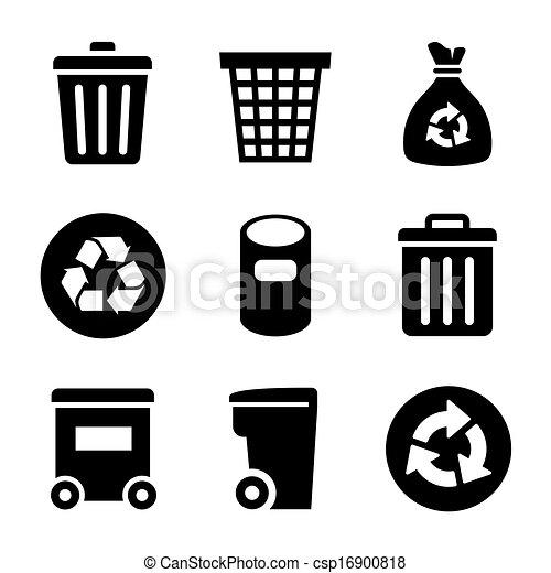 Garbage Icons set - csp16900818