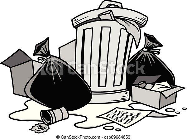 Garbage Illustration - csp69684853