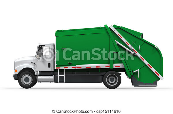 garbage truck isolated garbage truck isolated on white background rh canstockphoto com green garbage truck clipart garbage truck clipart black and white