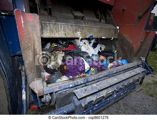 Garbage Truck - csp8601278