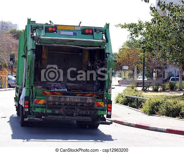 Garbage truck - csp12963200