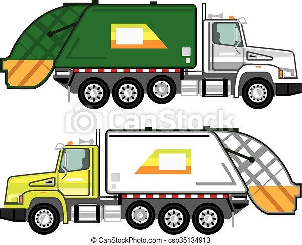 Garbage Truck - csp35134913