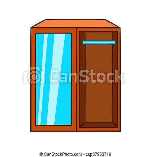 Garderobe clipart  Clipart de garde-robe, icône, style, dessin animé - Wardrobe ...