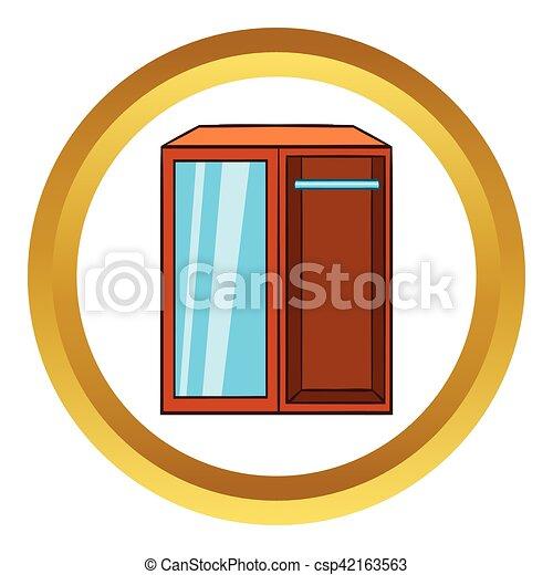 Garderobe clipart  Clipart vecteur de garde-robe, icône, style, vecteur, dessin animé ...