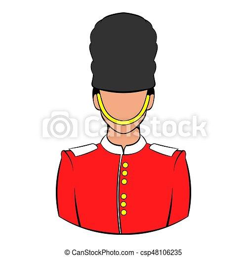 Garde Royal Dessin Animé Icône
