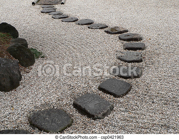 garde, stein, japanisches  - csp0421963