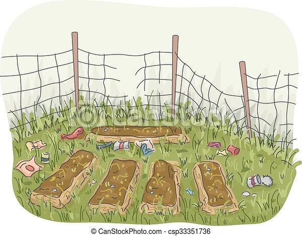 Garden Abandoned - csp33351736
