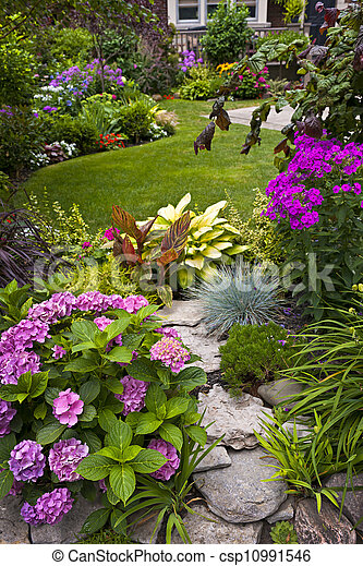 Garden and flowers - csp10991546