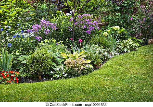 Garden and flowers - csp10991533