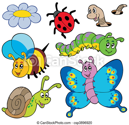 garden animals collection vector illustration - Garden Animals