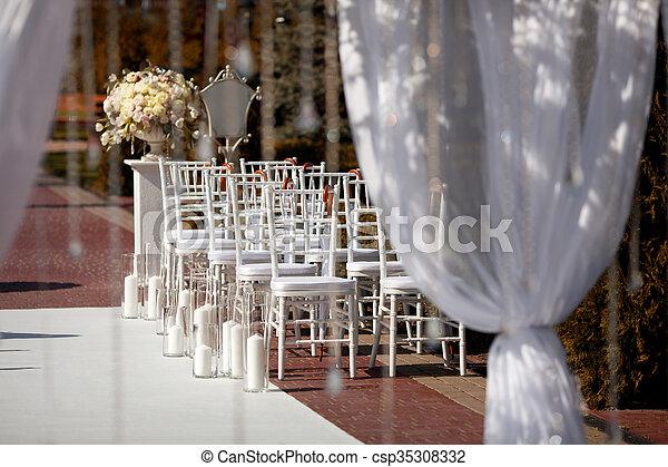 garden., beállítás, esküvő - csp35308332
