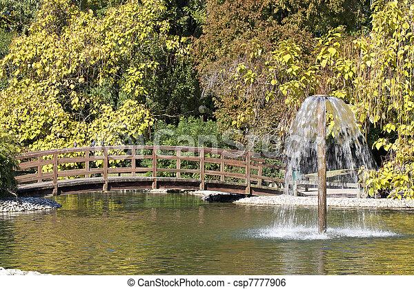 Garden bridge - csp7777906