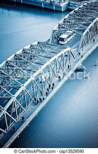 garden bridge - csp13529590