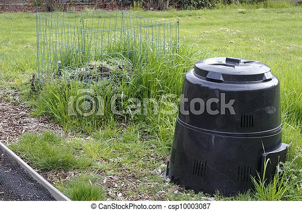 Garden Compost Bin and Pile - csp10003087