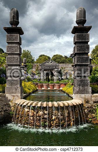 garden flower pond ornamental - csp4712373