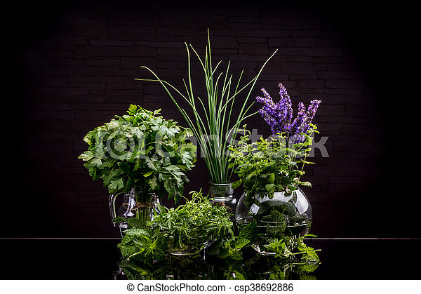 Garden fresh herbs - csp38692886