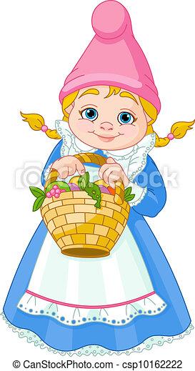 Garden Gnome with basket - csp10162222