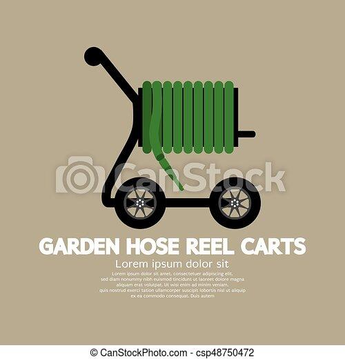 Garden Hose Reel Carts Vector Illustration - csp48750472