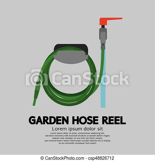 Garden Hose Reel Vector Illustration - csp48826712