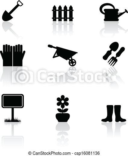 Garden icons - csp16081136
