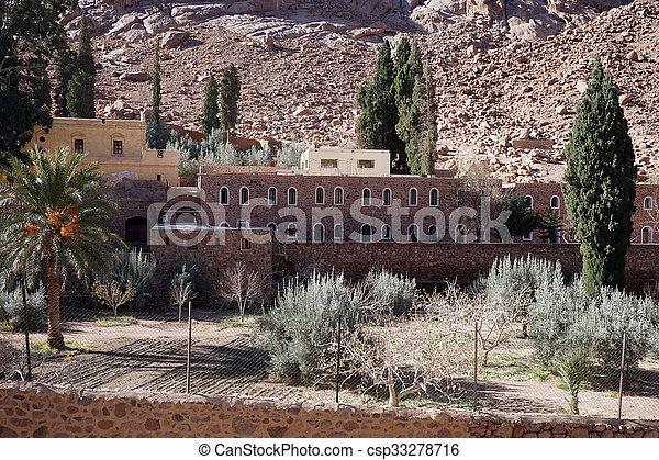 Garden in monastery - csp33278716