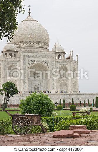Garden Maintenance at the Taj  - csp14170801