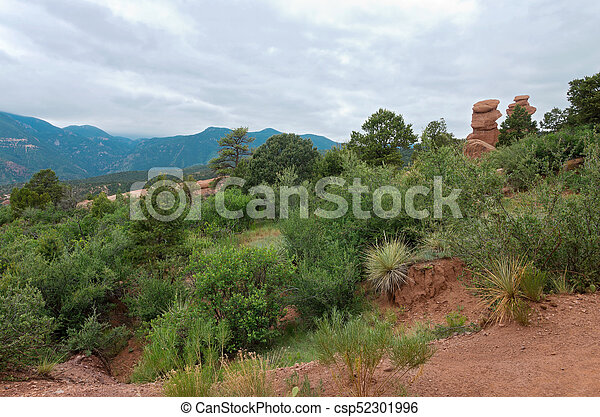 Garden of the Gods Mountains and Hills - csp52301996