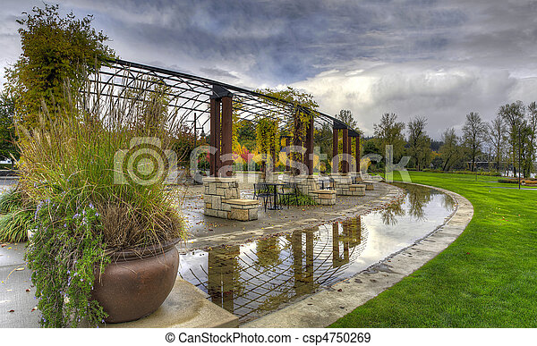 Garden Park in the Fall Season - csp4750269