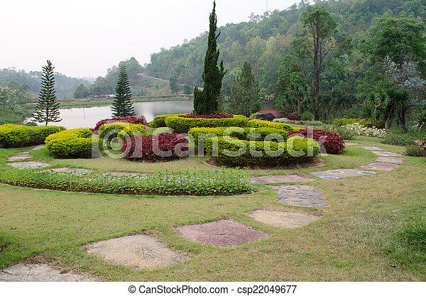 garden., park., landscaped, formeel - csp22049677