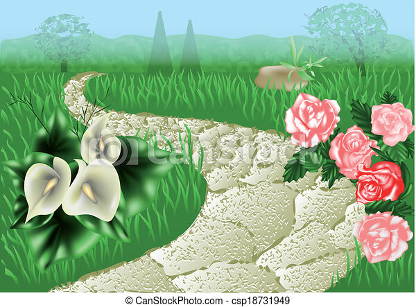 garden path - csp18731949