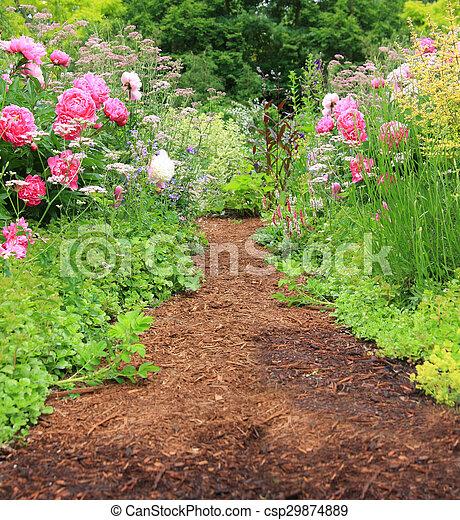 Garden Path Pretty In An English Cottage