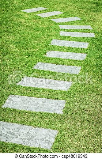 Garden path - csp48019343